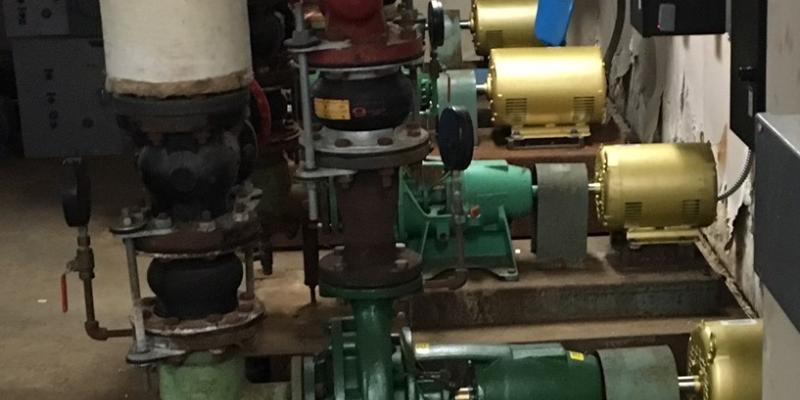 Four Pumps in the School's New Energy Management System